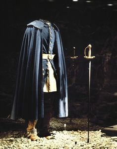 Swedish king Karl XII's blue uniform worn by him on the day he was shot to death while inspecting trenches during siege to the fortress of Fredriksten, 1718. Charles was struck in the head by a projectile and killed.