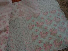 Very shabby chic bedding vintage 95 x 80 Pink and by shabbyhome