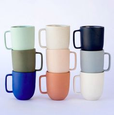 Pigeon Toe Ceramics' Simple Mugs are the perfect option for the person who wants a mug collection that's not matchy-matchy. Ceramic Cups, Ceramic Art, Modern Mugs, Kitchenware, Tableware, Modern Ceramics, Funny Coffee Mugs, Dinnerware Sets, Unique Furniture