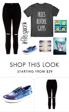 """""""What If..."""" by heyitskayden ❤ liked on Polyvore featuring Vans, New Look and INDIE HAIR"""