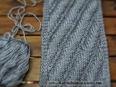 Diagonal Knitting Stitch Pattern (Very Simple To Do) | Knitting Unlimited | Bloglovin'