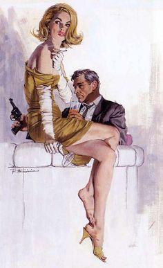 Robert McGinnis Vintage Pulp Art Illustration