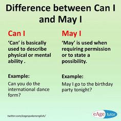 Difference between Can I and May I English Grammar Rules, English Grammar Worksheets, Learn English Grammar, English Sentences, Grammar And Vocabulary, English Language Learning, Learn English Words, English Lessons, English Vocabulary