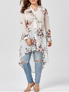 GET $50 NOW | Join RoseGal: Get YOUR $50 NOW!http://www.rosegal.com/plus-size-blouses/chiffon-floral-plus-size-top-1078542.html?seid=8359401rg1078542