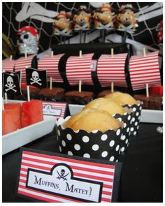 Pirate Party - Muffins, Matey  Styled by Bespoke Party Plans