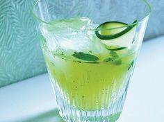 Pepino's Revenge | This refreshing tequila cocktail combines cucumber slices with basil and tangy lime juice.