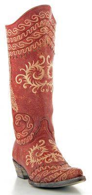 Womens Old Gringo Zarape Razz Boots Red #L828-9 via @Allens Boots