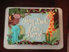 Jungle Theme Baby Shower Sheet Cake