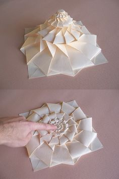 Maniacs: Origami Flower Tower By Chris Palmer 48 minute tutorial, looks incredibly difficult, but so cool, and it looks like a good tutorial. Good activity for prison life. Origami Design, Diy Origami, Origami Paper Folding, Origami And Kirigami, Origami Stars, Origami Tower, Dollar Origami, Origami Ball, Flower Tower
