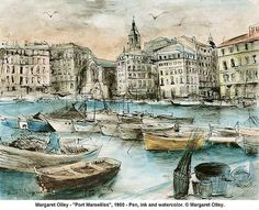 """Port Marseilles,"" by Margaret Olley Margaret Olley's work Art Gallery, Visual And Performing Arts, Art Drawings, Australian Art, Painting, International Art, Art, Still Life Artists, Australian Painters"