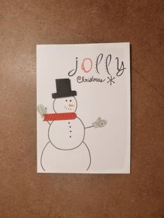 Snowman jolly Christmas Card // Winter greeting