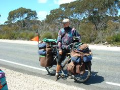 This gentleman from Czech Republic circumnavigated Australia on this loaded bike!