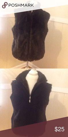 Reversible fur vest Fur vest black on other side Jackets & Coats Vests