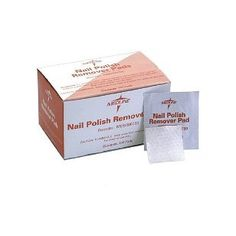 Medline Nail Polish Remover Pads  Qty of 100  Model MDS090780H -- Continue to the product at the image link.Note:It is affiliate link to Amazon.
