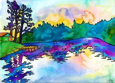Lake Catharine by PaintMyWorldRainbow (Rachel Brown Smith)