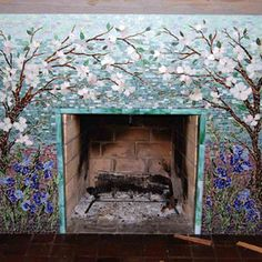 Mosaic Tile Fireplace Surround Design Ideas, Pictures, Remodel ...