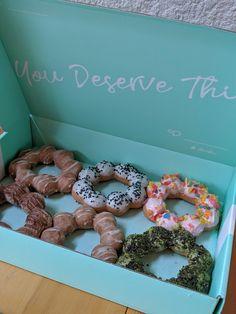 [I ate] Mochi doughnuts. via FoodPorn on September 07 2019 at Cupcake Gift, Food Tags, Gruyere Cheese, Tasting Menu, Dim Sum, Dessert Recipes, Desserts, Antipasto, Food Preparation