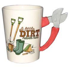 Fun Garden Secateurs Shaped Handle Ceramic Mug