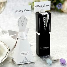 Bride & Groom Favor Boxes.  50 pcs for $25.95 + free shipping!!