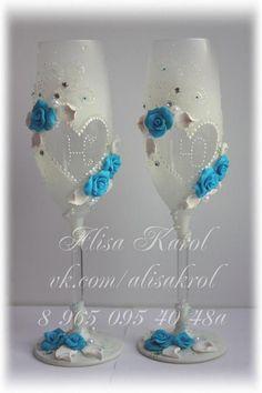 Gläser Hochzeit machte Hochzeit-Flöten für von AlisaKarol auf Etsy