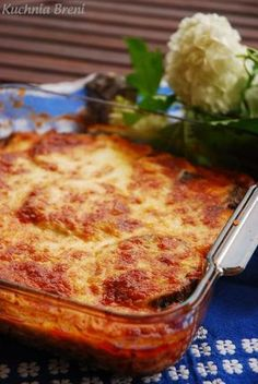 Grecka musaka - zapiekanka z bakłażana i mięsa mielonego - Musaka, Polish Recipes, Lasagna, Macaroni And Cheese, Yummy Food, Meat, Dinner, Ethnic Recipes, Impreza