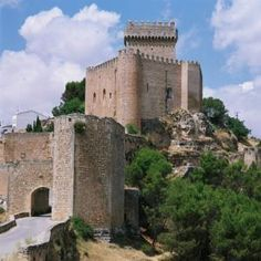"CASTLES OF SPAIN (2) - Castle of Alarcón, Cuenca, Castilla-La Mancha, Spain. In 1177 Ferren Martínez de Ceballos led the Christian forces which captured Alarcón - then an important fortress - from the Almohads. In gratitude, King Alfonso VIII of Castile gave him the name ""Alarcón"", which was borne over centuries by his descendants, among them the noted 16th century dramatist Juan Ruiz de Alarcón. Castle-Hotel de Alarcón, España"