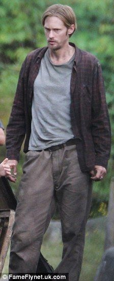 Alexander Skarsgard on the set of Hidden