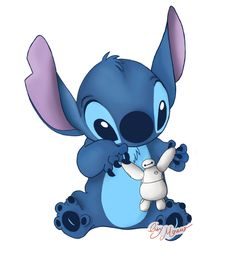Stitch and Baymax by LisyMoreno on DeviantArt