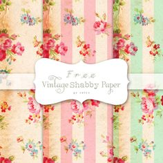 Free Vintage Shabby Digital Papers - Free Pretty Things For You