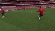 Francuz zabawił się na treningu Arsenalu Londyn • Laurent Koscielny i jego piękny gol strzelony raboną • Wejdź i zobacz filmik >> #arsenal #goals #football #soccer #sports #pilkanozna
