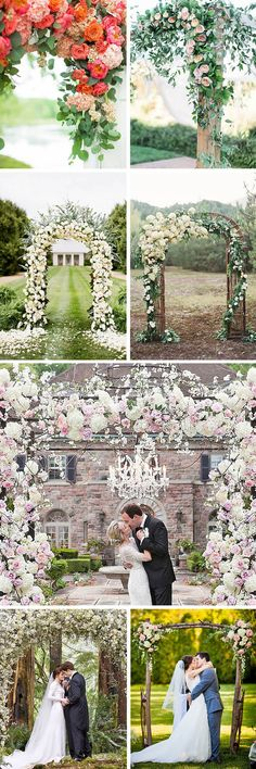 27 Floral Ceremony Arch Decoration Ideas ❤ In our gallery of wedding arch deco… wedding – Outdoor Wedding Decorations 2019 Wedding Arch Flowers, Diy Wedding Backdrop, Outdoor Wedding Decorations, Flower Decorations, Wedding Centerpieces, Floral Wedding, Trendy Wedding, Decor Wedding, Wedding Ideas