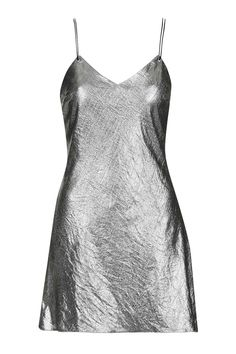 Metallic Strappy Slip Dress By Topshop Finds