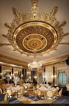 The Palmer House Hilton - Venue - Chicago, IL - WeddingWire Palmer House Chicago, Chicago Hotels, False Ceiling Design, Ceiling Medallions, Ceiling Decor, Living At Home, Beautiful Interiors, Decoration, Living Room Designs