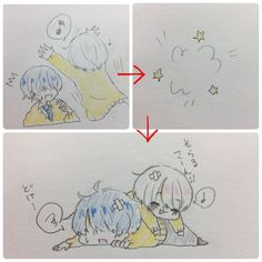 そらまふ\(´°v°)/んぴッ Funny Drawings, Kawaii Drawings, Vocaloid, Bungou Stray Dogs Characters, Funny Art, Funny Memes, Cute Anime Boy, Cute Chibi, Doujinshi