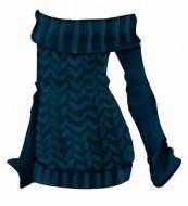 Maglione blu senza spalle