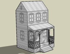 8-Bits House Paper Model - by Papermau - Next Project  ==   The next model is a simple house created with MsPaint. I am trying to imitate those old 8-bits designs from 90`s.