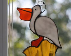 9x6 Stained Glass Pelican