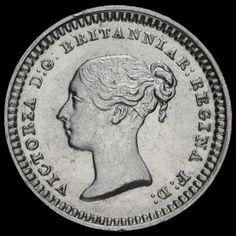 1843 Queen Victoria Young Head Silver Three-Halfpence, G/EF