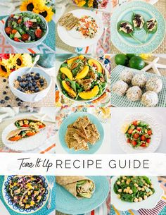 All of your Tone It Up Recipes