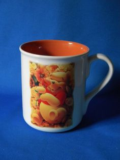 WINNIE THE POOH Coffee Mug Cup Happiness is a Bed of Roses
