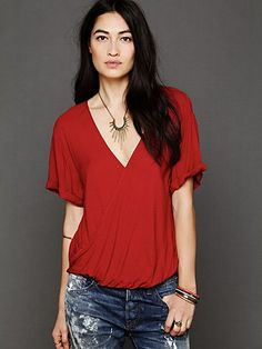 Solid Wrap Top