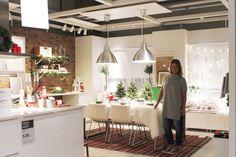 Cozinha e zona de refeição lado a lado com o Natal. Por Cacomae.  #Natal #decoração #bloggers #ikeaportugal