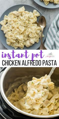 This Instant Pot Chicken Alfredo Pasta is an easy one pot meal made hands off in the pressure cooker! This Instant Pot Chicken Alfredo Pasta is an easy one pot meal made hands off in the pressure cooker! Pollo Alfredo, Quinoa, Gourmet Recipes, Healthy Recipes, Delicious Recipes, Best Food Recipes, Appetizer Recipes, Cheap Recipes, Recipes