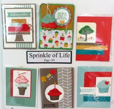 New Catalog Sample Boards from my Open House from Flowerbug's Inkspot