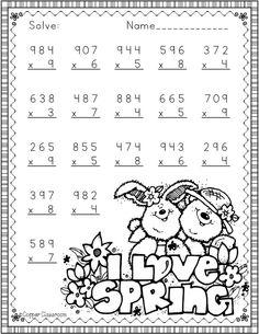 Math Multiplication Worksheets, Math Addition Worksheets, 2nd Grade Math Worksheets, Maths, Math Resources, Math Activities, Math Drills, Math Numbers, Math For Kids