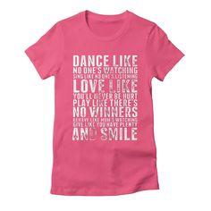 dance-like-no-ones-watching womens t-shirt in fuchsia
