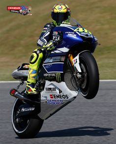 MotoGP 2013 - Round Six - Valentino Rossi gets it up - http://www.mcnews.com.au/MotorcycleRacing2013/MotoGP/Rnd6/Day3.htm
