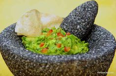 Traditional Guacamole by Chef Denisse Oller, HK Contributor and at AARP, where she is a columnist chef and nutrition expert.  HispanicKitchen.com