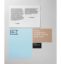 Paul Loebach Graphic Identity by Studio Lin #graphicdesign