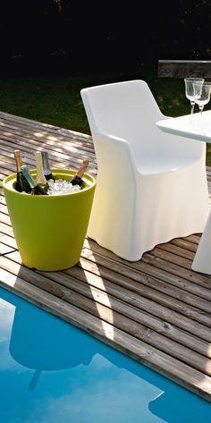 White designer dining armchair